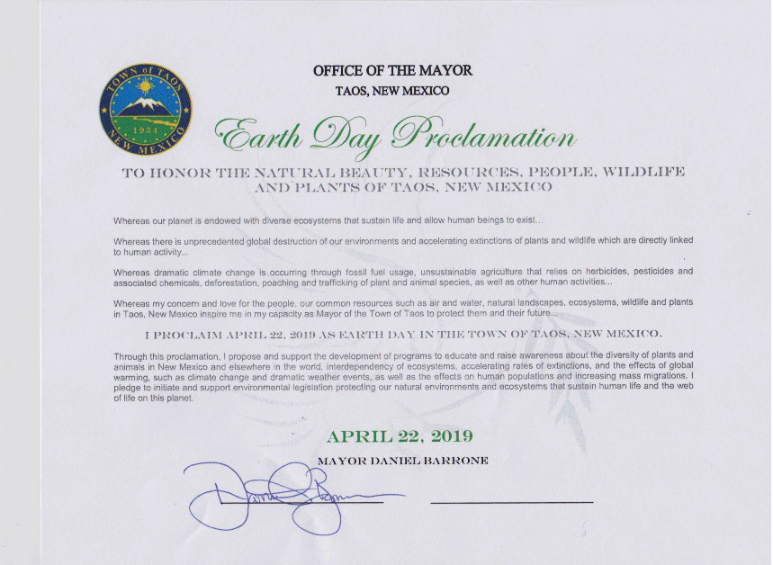 Mayor Barrone Earth Day Proclamation